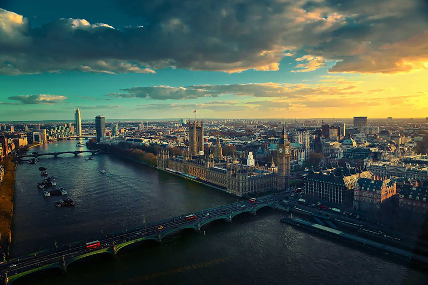 London Panorama with the Thames